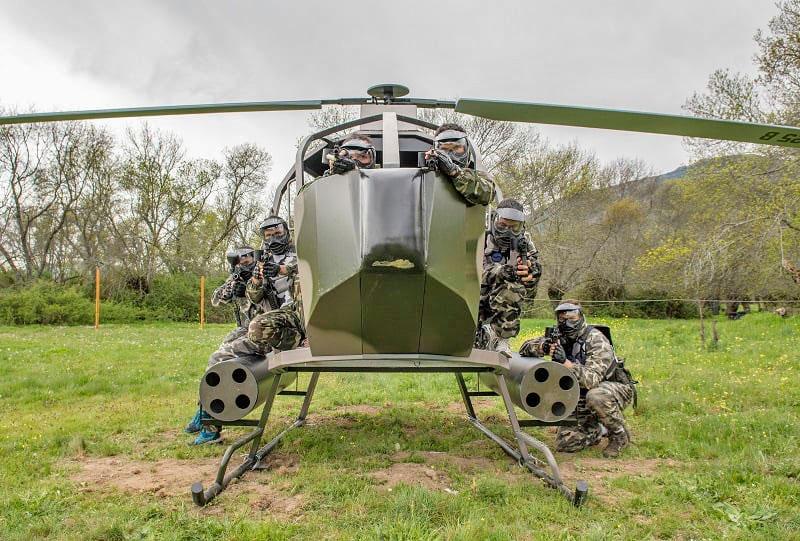 Paintball Madrid helicóptero
