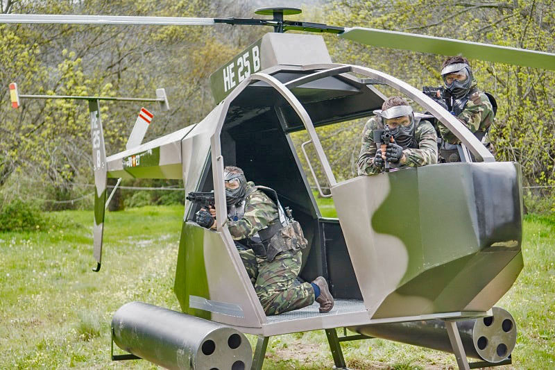 Paintball escenario helicóptero