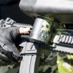 Detalle de las armas de Gran paintball Madrid