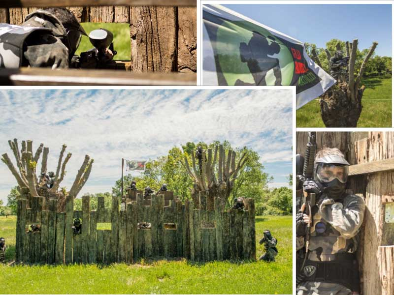 Varias fotos superpuestas en Gran Paintball Madrid