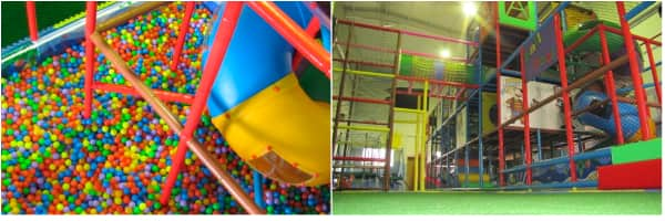 Piscina de bolas y estructuras para adultos