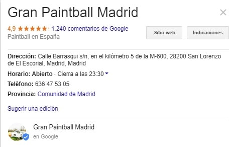 Paintball Madrid Opiniones